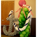 7-ft Sea Column with Anchor, Rope & Octopus