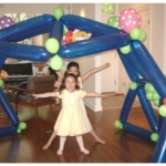 Party Playhouse Kids Help Build
