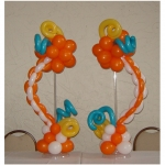 Orange Swirly Centerpieces, match columns