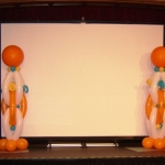 Contemporary Orange Columns For a Stage