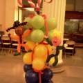 Stack of presents & kids climbing them!