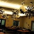 Black n White Hanging Bursts & Topiaries