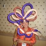 Mardi Gras headpiece and mask