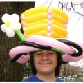 Big top hat with flower