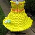 Summer Fun Yellow Sun Dress for Adult