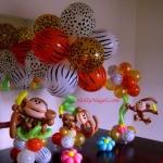 Animal Print Monkeys, various sizes, 18 40 25 in