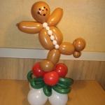Gingerbread boy centerpiece, 18-in