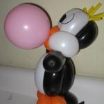 Penguin blowin' bubblegum
