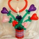 Lovebirds and hearts, 3 ft tall