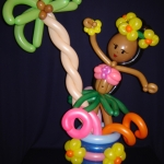 Hula Under the Palm tabletopper, 3-ft tall
