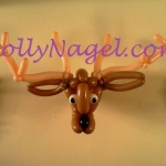 Elk head with candle sconces