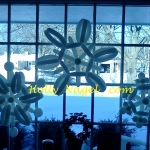 Hanging window snowflakes