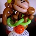 Animal Print Monkey centerpiece, 18-in
