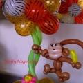 Animal Print Monkey tabletopper, 25-in