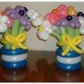 Flowers and bows tabletoppers, 15-in