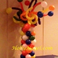 Colorful curly column, 3 1/2 ft