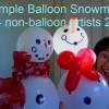 Easy Balloon Snowmen